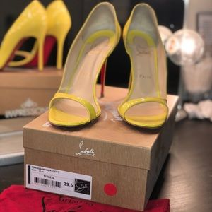 Christian louboutin yellow sandals